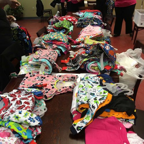 Pajama donations Alpha Kappa