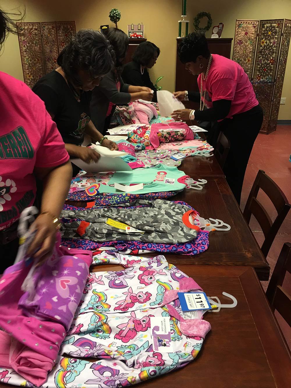 Alpha Kappa pajama charity drive