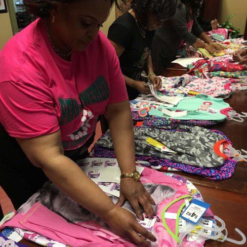 Alpha Kappa pajama donations