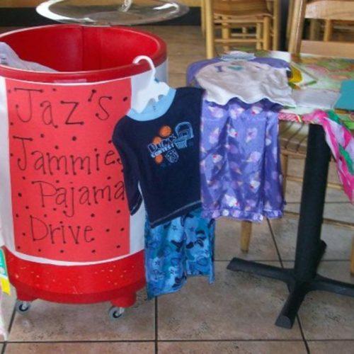 Pajama drive donations bin