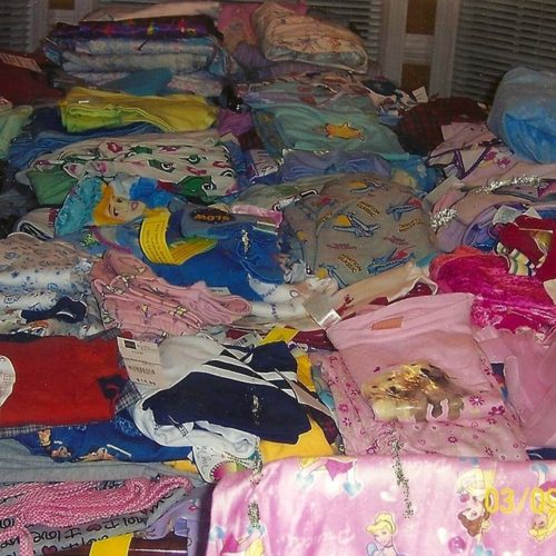 Pajama donations to Hospitals and Homeless Shelters