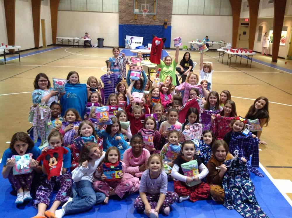 Pajama charity at schools